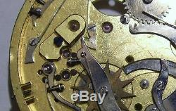 Spares Antique Part of Repeater Pocket Watch Movement 42.5 mm For Spares