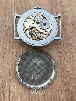 Svalan Calatrava Coin. Case No Longines Working For Parts Vintage Watch