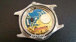 TAG Heuer 2000 Men's SS Watch Case/Dial/Movement/Crown. WK1212. Not working