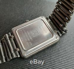 TISSOT TwoTimer Digi-Ana Vintage Digital Watch LCD Link Band +1 extra for parts