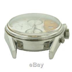 Tag Heuer Carrera Cv2011 Calibre 16 Silver Dial Auto Watch Head For Parts/repair