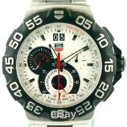 Tag Heuer Formula 1 Cah1011 White Dial Chrono S. S. Mens Watch For Parts/repairs