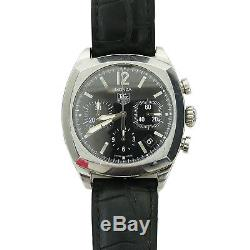 Tag Heuer Monza Cr2113-0 Black Dial Chrono S. S. Watch As Is For Parts+repairs