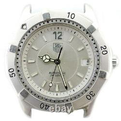 Tag Heuer Wk2116-1 Automatic 37mm Silver Dial Watch Head For Part Or Repairs