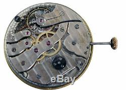 Thinnest Pocket Watch Working Condition Movement TOUCHON Dial Hands Crown Stem