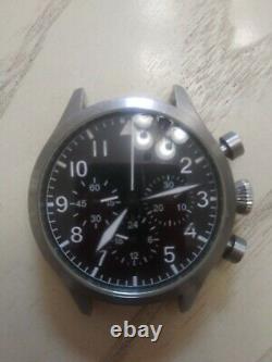 Ticino pilot handwind seagull chronograph pilot watch not working