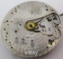 Tiffany & Co Pocket Watch Movement for parts 17j, adj. For parts, OF high grade