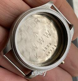 Timor Military Dirty Dozen WWW Watch 1945 Case and Case Back