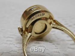 Tissot Ladies Swiss Ring Watch MARKED 14K GOLD Womens NOT Working TA2529 1417