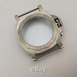 Titanium sapphire glass parnis brushed case 44mm Fit 6497/6498 movement V-4354