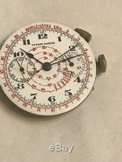 ULYSSE NARDIN Chronograph defect watch movement with dial for parts (Z507)