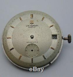 Universal Geneve 138 C Movement Universal Monodatic Dial / Universal 138C Bumper