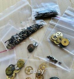 Used Lot Of Vintage Rolex Parts Wheels Gears Stem Screws For Men Ladies Watches