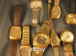 VINTAGE 1970's Lady Bulova Accutron watches and bands for restoration parts