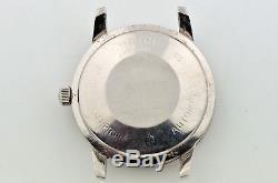VINTAGE MEN'S ZODIAC AEROSPACE GMT AUTOMATIC CAL 75 BLACK DIAL WATCH for parts