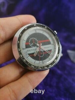 VINTAGE SEARS EASY-RIDER CHRONOGRAPH BY HEUER 45mm WATCH 1970's FOR PARTS AS IS