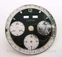 VINTAGE ZODIAC CHRONOGRAPH WATCH DIAL VALJOUX 72C or 730 STYLE N. O. S. A-136