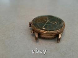 VTG Jardur Chronograph Bezelmeter 17 Jewels Olive Pushers Pilots Watch