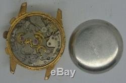 VTG MISC SWISS Gold Plated Chronograph. Venus 210. For Repairs