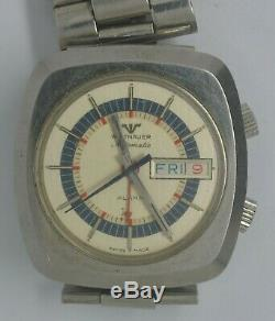 VTG WITTNAUER Alarm Steel Automatic Watch. Cal AD13A. Repairs