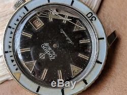 Vintage 1.8 Mil Serial Zodiac Sea Wolf Divers Watch FOR PARTS OR RESTORATION