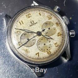 Vintage 1944 Omega 27 chro T2 pre-321Chronograph Ref 2451-2 Easy Repair RARE