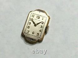 Vintage 1947 Ladies Hamilton 17J 721 Watch 14k GF Original Box NOT WORKING