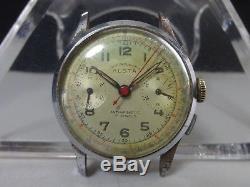 Vintage 1950's ALSTA mechanical watch CHRONOGRAPH 17J for parts