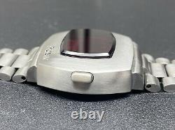Vintage 1972 pulsar p2 led stainless steel watch for parts or repair very clean