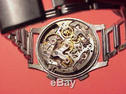 Vintage 34mm PARKER VENUS 150 COLUMN WHEEL CHRONOGRAPH Wristwatch REPAIRS
