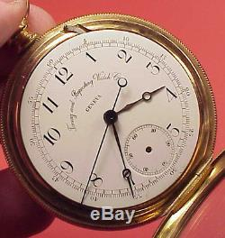 Vintage 50mm TIMING & REPEATING WATCH CO CHRONOGRAPH Pocket Watch STAFF REPAIRS