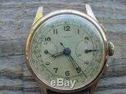 Vintage BOVET Chronograph Watch Parts only Bad Case