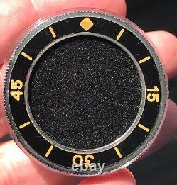 Vintage Blancpain Fifty Fathoms or Milspec 41mm Bakelite Bezel and Insert Mint