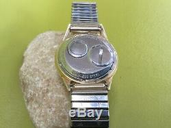 Vintage Bulova 214 Accutron 10k Gold Filled Bezel Watch Hums, Parts/repair