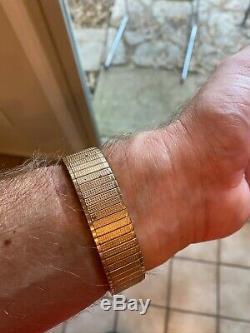 Vintage Bulova 214 Accutron 10k Gold Filled Bezel Watch Hums, Parts/repair