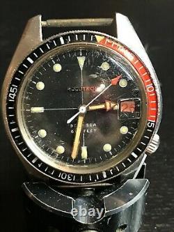Vintage Bulova Accutron 666 Deep Sea Divers Watch Parts Repair N0