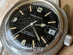 Vintage Bulova Caravelle Sea Hunter Diver Watch withPatina, Runs FOR PARTS/REPAIR
