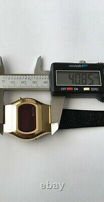 Vintage Bulova led Computron watch Water Resistant N6 Not working for repairs