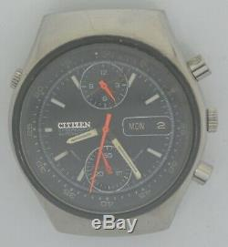 Vintage CITIZEN SPIDER Steel Chronograph. Ref GN-4-S, Cal 8110A