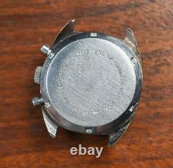 Vintage CROTON Computer Valjoux 7733 Chronograph Watch Running Needs Service