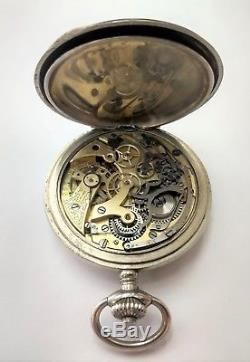 Vintage Chronograph Pocket Watch As is For Parts Only