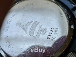Vintage Chronosport UDT Sea Quartz Diver Watch withOrig Band, Runs FOR PARTS/REPAIR