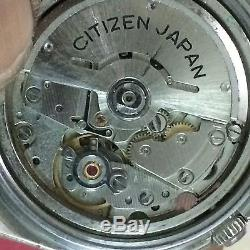 Vintage Citizen Chronograph Automatic 8110A Men's Watch For Parts MISSING DIAL