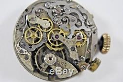 Vintage DOXA Extra Military Style Chronograph Watch Movement For Parts lot. W2