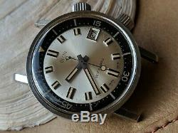 Vintage Elgin Super-Compressor Dive Watch withMilitary Stamp, Runs FOR PARTS/REPAIR