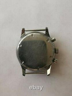 Vintage Gallet Chronograph Watch Stainless Case & Dial Valjoux 72 For Parts