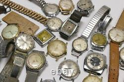 Vintage Gents Mens Watches Lot of 29 Watches for Parts, Scrap or Repair