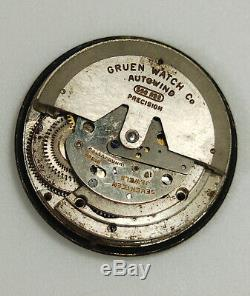 Vintage Gruen Ocean Chief Dial, Hands and Movement ONLY