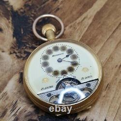 Vintage Hebdomas Pocket Watch For Repair, Good Balance (H115)