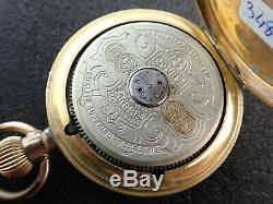 Vintage Hebdomas Swiss 8 Day Hunting Case Pocket Watch For Parts